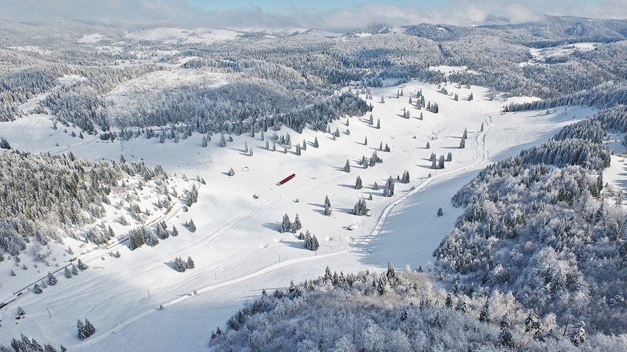 Mesevilág télen a Bál-rét, egy különleges nézőpontból.