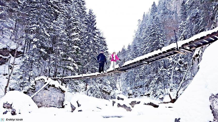 A Békás-szoros télen is szép