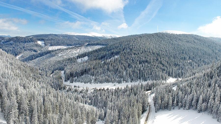 A téli Páring-hegység